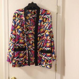 Vintage Multi Color Blazer Buttonless